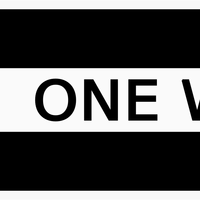 One Way Sign pointing two ways vector clipart