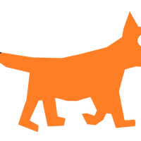Orange Cartoon Fox vector clipart