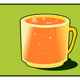 Orange Cup Vector Clipart
