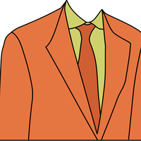 Orange Disco Suit Vector Clipart