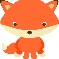 Orange Fox Vector Clipart