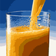 Orange Juice being poured vector file