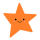 Orange Star vector clipart
