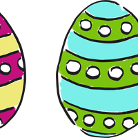 Painted Easter Eggs vector clipart