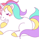 Pastel Unicorn Vector Clipart