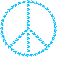 Peace sign with doves vector clipart