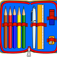 Pencil Case Vector Clipart
