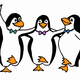 Penguin Dancing Vector Clipart