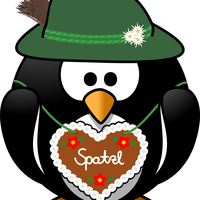 Penguin from the Alps vector Clipart