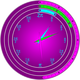 Pi Clock Vector Clipart