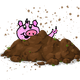 Pig in Dirt vector clipart