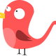 Pink Bird vector clipart