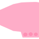 Pink Blimp Vector Clipart