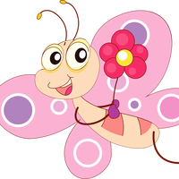 Pink Butterfly Vector Clipart