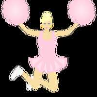 Pink Cheerleader Vector Clipart