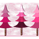 Pink Christmas Trees illustration vector file