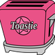 Pink Chrome Toastie Toaster vector clipart