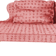 Pink Couch Vector Clipart
