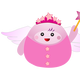 Pink Fairy with Wand Vector Clipart