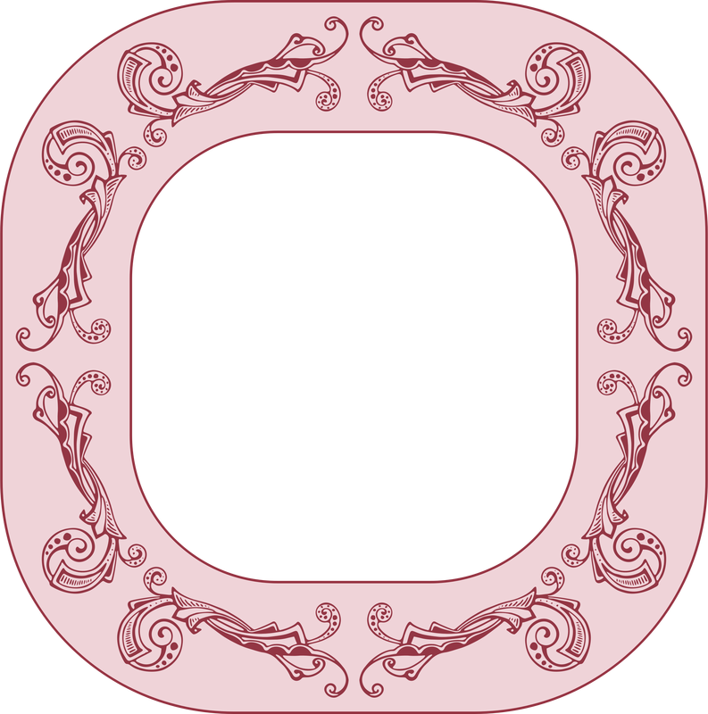 Pink Flower Picture Frame Vector Clipart Image Free Stock Photo