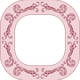Pink Flower Picture Frame Vector Clipart