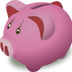 Pink Piggy Bank Vector Clipart