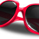 Pink sunglasses vector clipart
