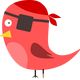 Pirate Bird Vector Clipart