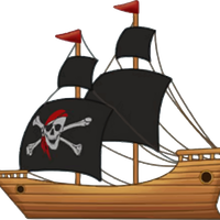 Pirate Ship Vector Clipart