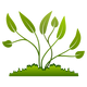 Plants growing out of the Ground vector clipart