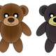 Plush Bears Vector Clipart
