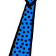 Poka Dotted Tie Vector Clipart