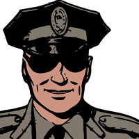 Police with Sunglasses vector clipart