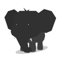 Polygon Elephant Vector file