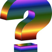 Prismatic 3D Question Mark Vector Clipart