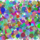 Prismatic circles Background vector clipart
