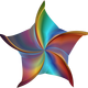 Prismatic Colored Starfish Vector Clipart