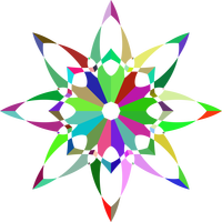 Prismatic Flower Silhouette Vector File
