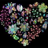 Prismatic Heart Pattern Vector Clipart