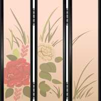 Privacy Screen with flower decoration vector clipart