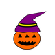 Pumpkin in Watch Hat vector files