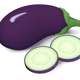 Purple Eggplant Vector Clipart