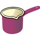 Purple Milk Pot Vector Clipart
