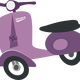 Purple Vespa scooter vector clipart