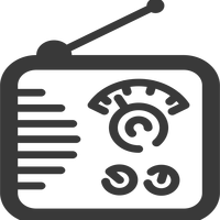 Radio Icon Vector Clipart