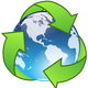 Recycle Crystal Earth Vector Icon