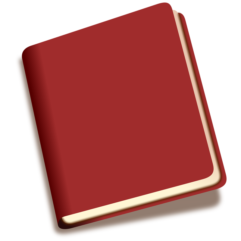 red book icon vector clipart image free stock photo