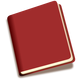 Red Book Icon Vector Clipart