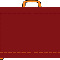 Red Briefcase frame Vector file