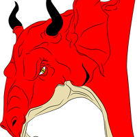 Red Dragon Head Vector Clipart